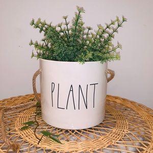 "Rae Dunn Ceramic LL ""PLANT"" Hanging Planter Pot"
